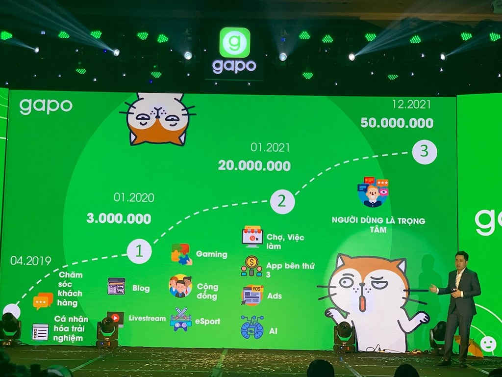 Giới thiệu mạng xã hội Gapo tạo lễ ra mắt tại khách sạn JW Marriott
